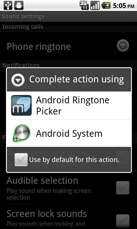 Ringtone Picker - screenshot