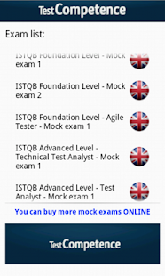 ISTQB Mock Exam TestCompetence- screenshot thumbnail