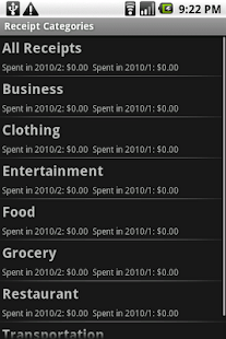 Receipt Filer Lite- screenshot thumbnail