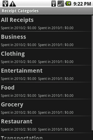 Receipt Filer Lite- screenshot