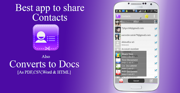 Contacts to Text Pro Screenshot