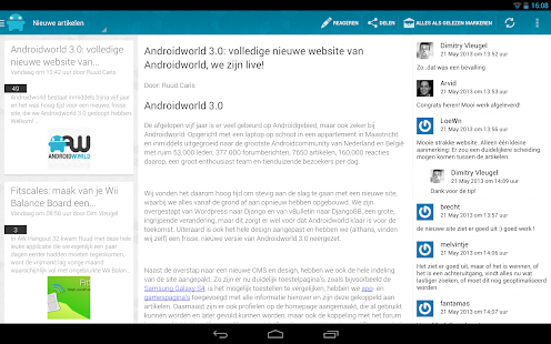 Androidworld: Android nieuws - screenshot thumbnail