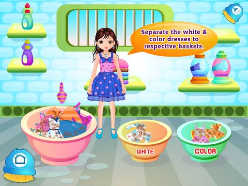 洗濯の女の子のゲーム
