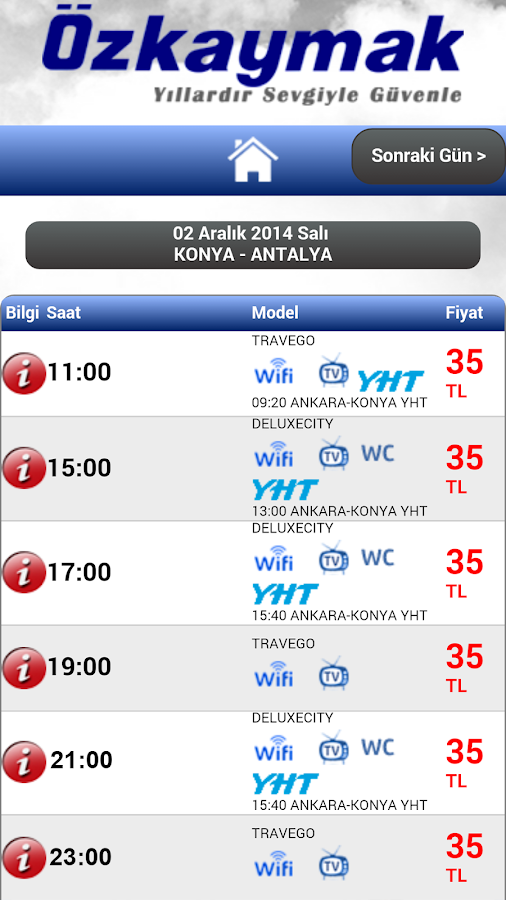 Ozkaymak Mobile- screenshot