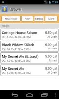 Screenshot of BrewR - Beer Recipe Manager