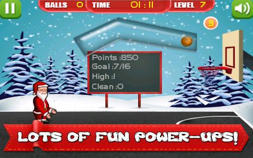 圣诞老人圣诞节篮球的乐趣 玩體育競技App免費 玩APPs