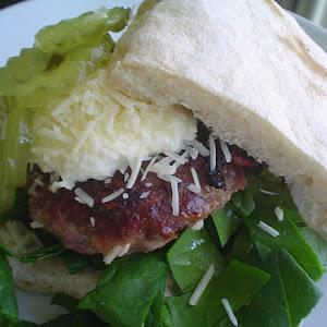 Hamburgers with Ham and Cheese
