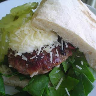 Hamburgers with Ham and Cheese.