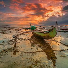 Traditional Boat by Bayu Adnyana - Transportation Boats ( bali, tuban, seascapes, sunrise, boat, landscapes )