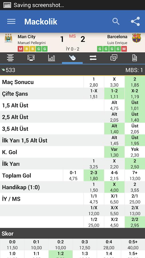 Mackolik Canlı Sonuçlar - screenshot