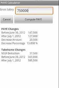 Uganda PAYE Calculator- screenshot thumbnail