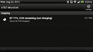 Screenshot of Bluetooth Battery Meter