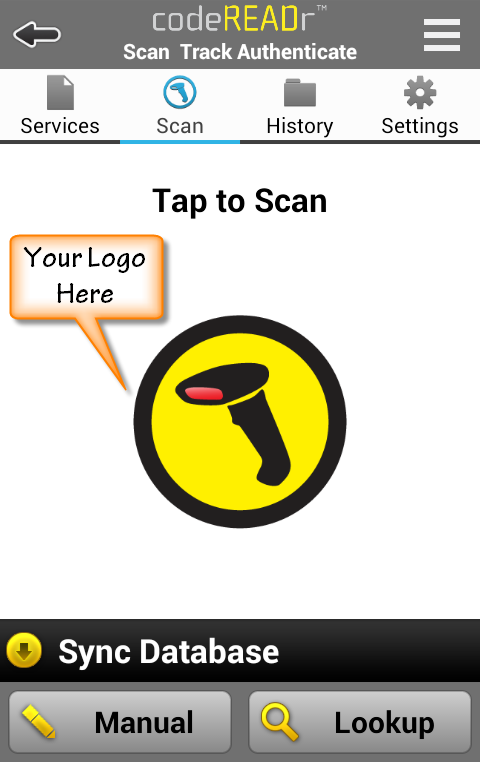 codeREADr: B2B Barcode Scanner- screenshot