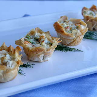 Seafood Phyllo Cups Recipe