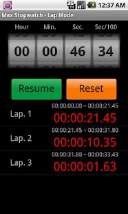 Max Stopwatch- screenshot thumbnail