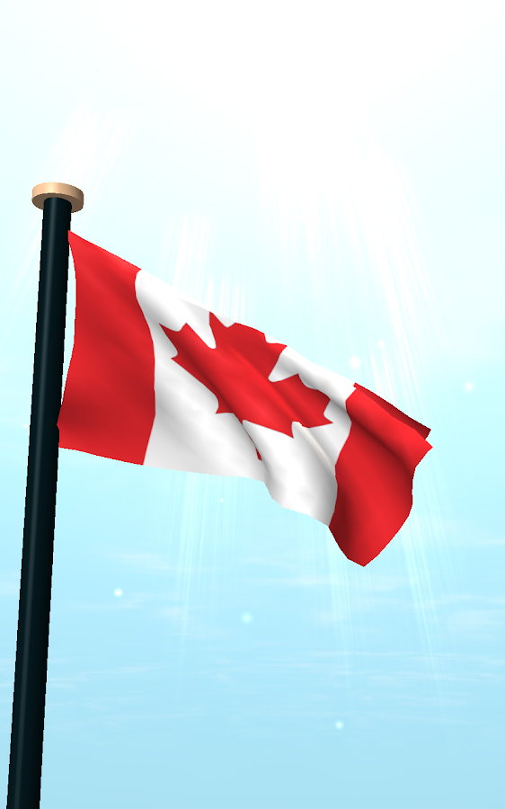 Canada flag 3d free wallpaper android apps on google play - Canada flag 3d wallpaper ...