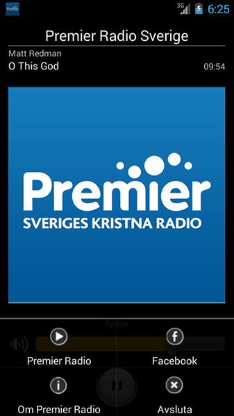Premier Radio Sverige - screenshot