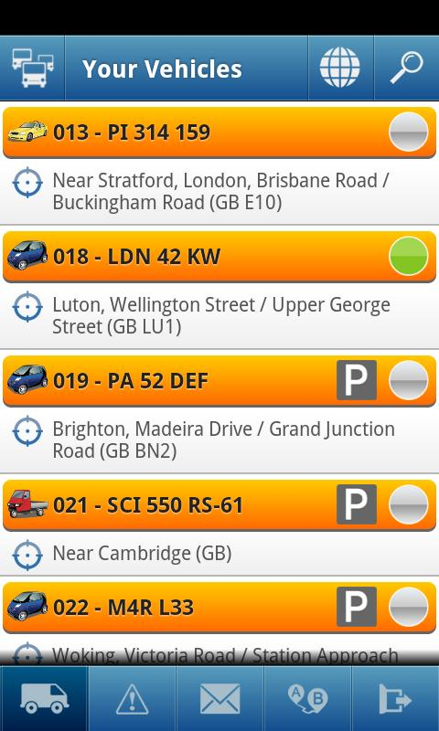 TomTom WEBFLEET Mobile - screenshot