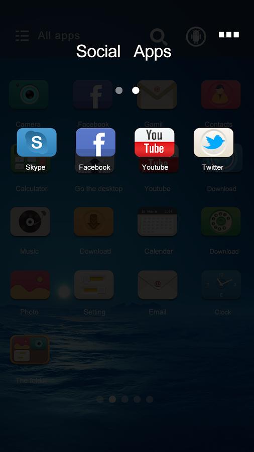 Exist GO Launcher Theme - screenshot