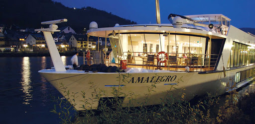 AmaLegro-exterior-night - Guests will enjoy the nightly entertainment during their European escape on board the AmaLegro river ship in France.