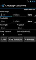 Screenshot of Landscape & Garden Calculators