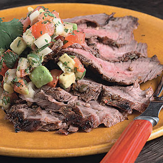Flank Steak with Tomato-Avocado Salsa