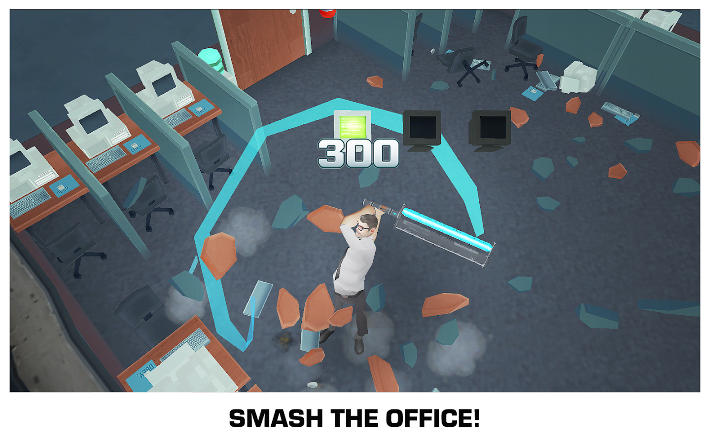 Screenshots of Smash the Office - Stress Fix! for iPhone