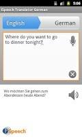 Screenshot of iSpeech German Translator