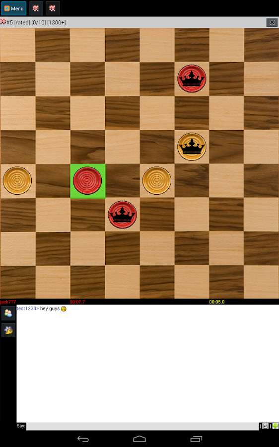CHECKERS ONLINE (free) - screenshot