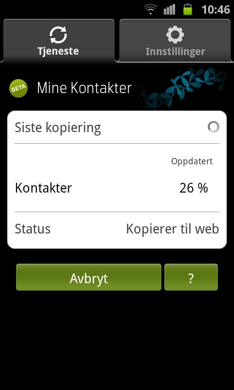 Mine Kontakter - screenshot
