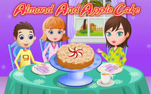 Almond and Apple Cake Cooking