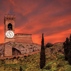 Clock Tower by Andrea Magnani - Buildings & Architecture Public & Historical ( building, andrea magnani, middle age, castle, old architecture )