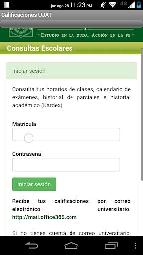 UJAT consulta calificaciones