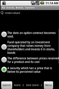 Stocks Bonds Options Study Aid - screenshot thumbnail