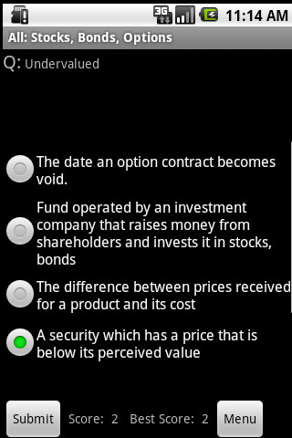 Stocks Bonds Options Study Aid - screenshot