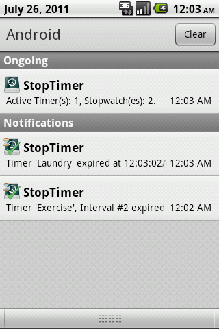 StopTimer - Stopwatch & Timer- screenshot