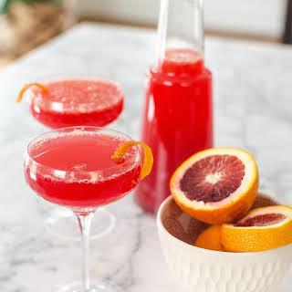 Blood Orange Mimosa Pitcher Cocktail.