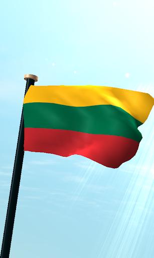 立陶宛旗3D免費動態桌布