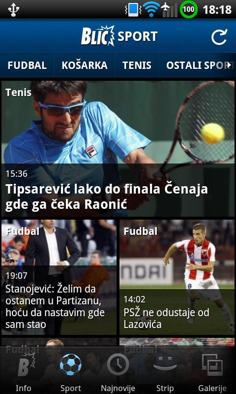 Blic- screenshot
