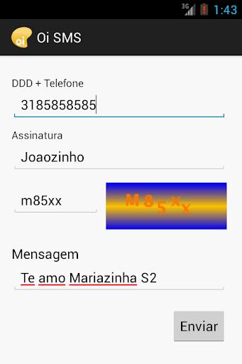 SMS Grátis Oi