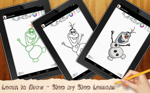 Game Drawing Lessons Ollaf Frozen APK for Windows Phone