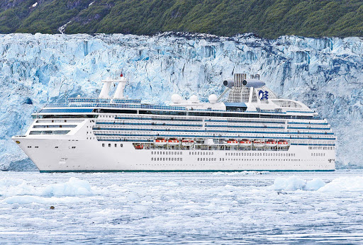Glacier-Bay-Princess-Cruises - A Princess ship cruises through scenic Glacier Bay, Alaska.