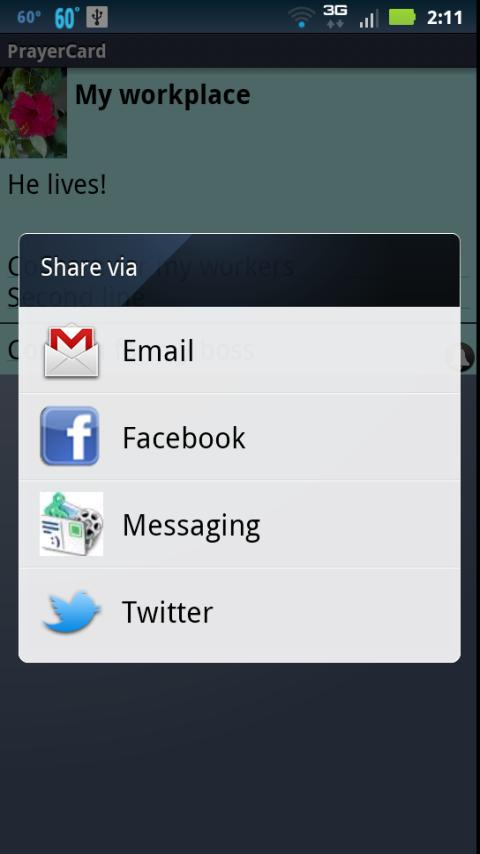 PrayerCard- screenshot