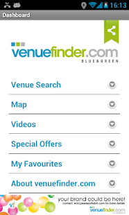 Venuefinder.com- screenshot thumbnail