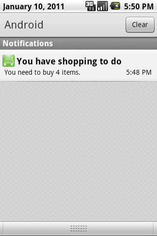 You've got shopping - screenshot