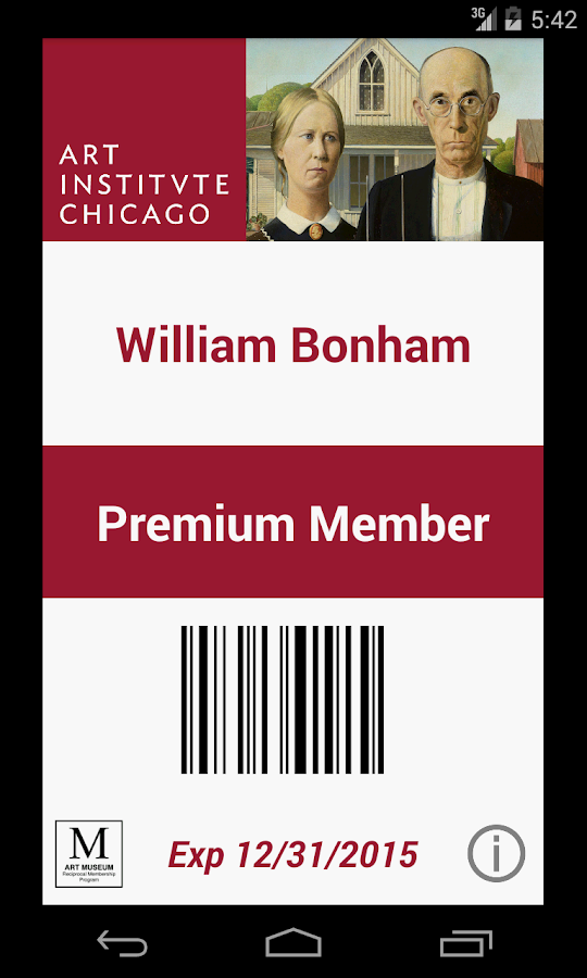 Digital Member Card- screenshot