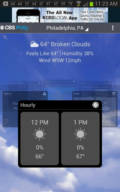 CBS Philly Weather- screenshot