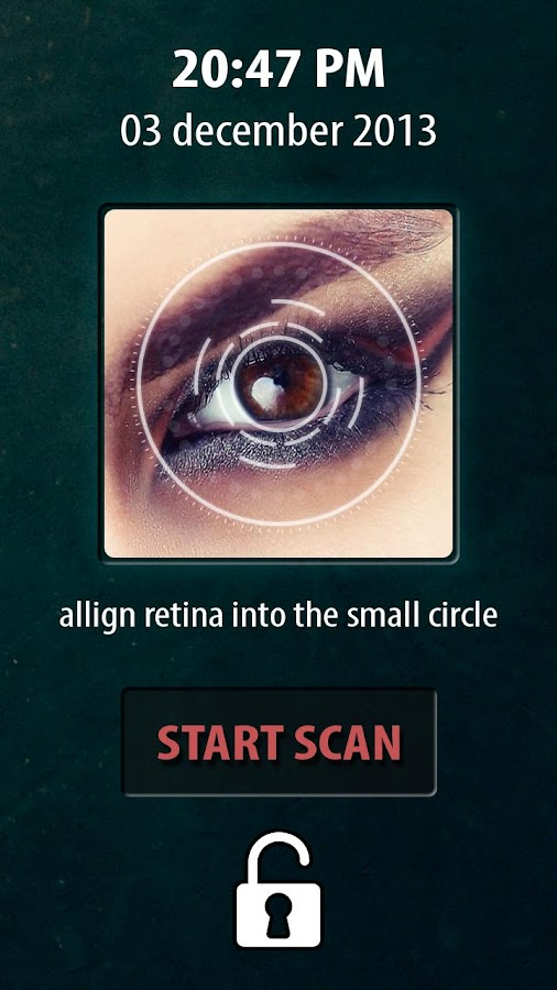 Eye Retina Lock Screen PRO - screenshot