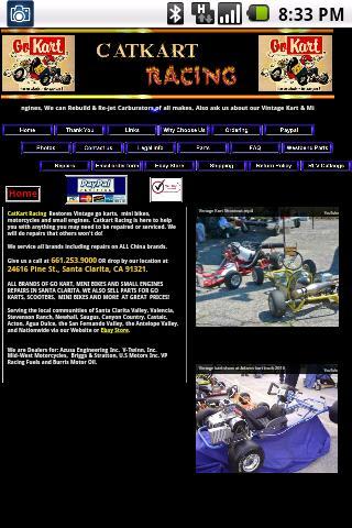 Catkart Racing Karts Parts