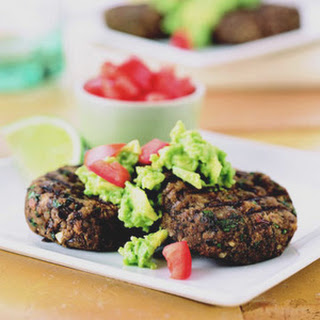 Southwestern Black Bean Cakes with Gucamole